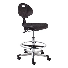 840 Series Self-Skin Lab Chair - Aluminum Base w/ Toecaps
