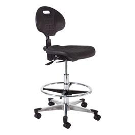 840 Series Self-Skin Lab Chair - Aluminum Base w/ Toecaps