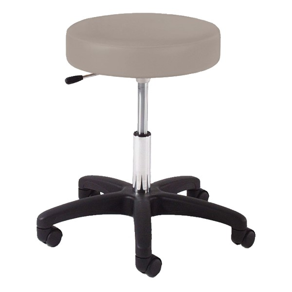 960 Series Exam Stool w/ Single-Lever Adjustment - Black Composite Base - Putty vinyl