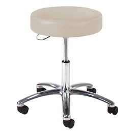 970 Series Exam Stool w/ D-Ring Hand Adjustment - Shown w/ polished chrome base