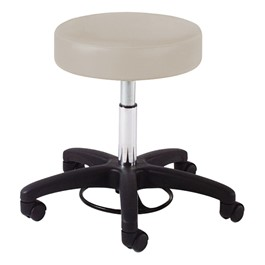 980 Series Exam Stool w/ 360-Degree Foot Ring Adjustment - Black Composite Base