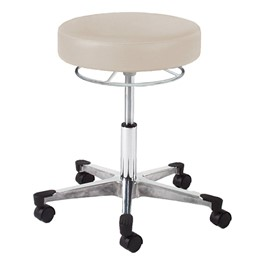 990 Series Exam Stool w/ 360-Degree Hand Ring Adjustment - Aluminum Base w/ Toecaps