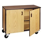 Adjustable-Shelf Storage Cabinet - Shown with doors