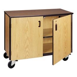 Adjustable-Shelf Storage Cabinet w/ Doors - Reinforced Frame