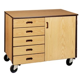 Drawer/Shelf Mobile Storage Cabinet w/ Door - Standard Frame