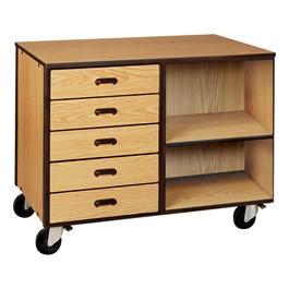 Drawer/Shelf Mobile Storage Cabinet w/out Door - Reinforced Frame