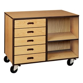 Drawer/Shelf Mobile Storage Cabinet w/out Door - Standard Frame