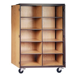 Mobile Cubby Storage Cabinet w/ Doors - Reinforced Frame