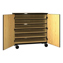 Six-Shelf Storage Cabinet w/ Doors - Reinforced Frame