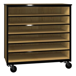 Six-Shelf Storage Cabinet w/out Doors - Reinforced Frame - Trays not included