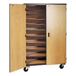 10-Shelf Storage Cabinet w/ Doors - Standard Frame
