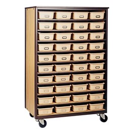 10-Shelf Storage Cabinet w/out Doors - Reinforced Frame<br>Shown w/ option tote trays