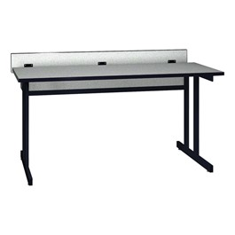 "Double Pedestal Base Computer Table (30"" W x 60\"" L)"