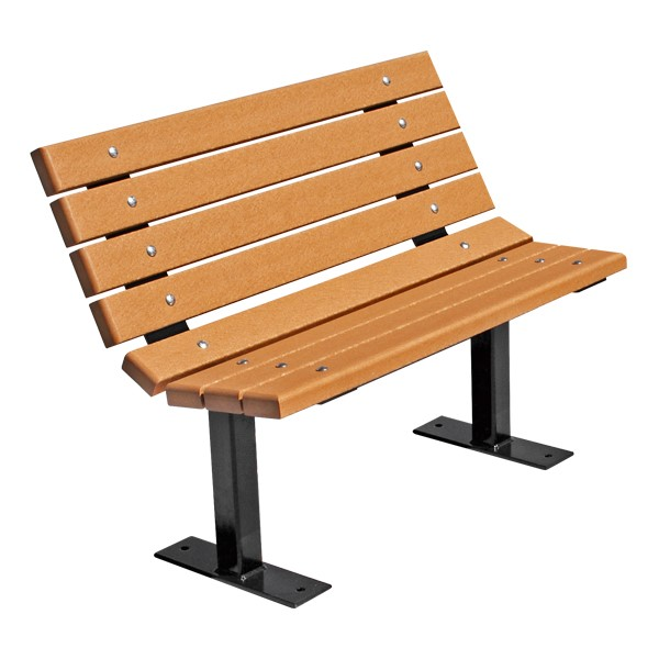 Contour Recycled Plastic Outdoor Bench - Surface Mount (4' L)
