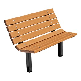 Contour Recycled Plastic Outdoor Bench - Inground Mount (4\' L)