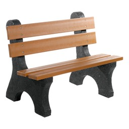 Colonial Recycled Plastic Outdoor Bench (4' L)
