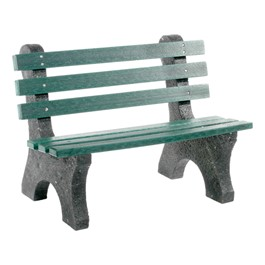 Central Park Recycled Plastic Outdoor Bench (4\' L)