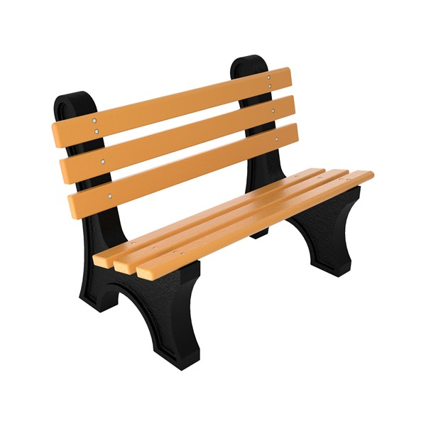 Central Park Recycled Plastic Outdoor Bench (4' L) - Cedar