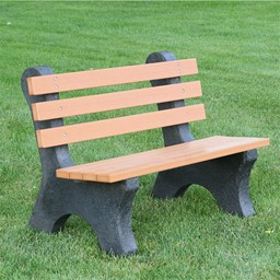 Comfort Park Avenue Recycled Plastic Outdoor Bench (4' L)