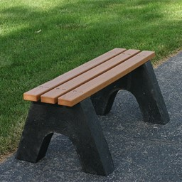 Sport Recycled Plastic Bench w/o Back (4' L)