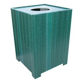 Standard Recycled Plastic Outdoor Trash Can - shown in green