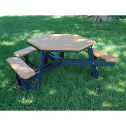 ADA Hexagon Recycled Plastic Picnic Table