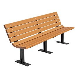 Contour Recycled Plastic Outdoor Bench - Surface Mount (6\' L)