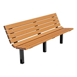 Contour Recycled Plastic Outdoor Bench - Inground Mount (6\' L)