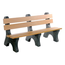Colonial Recycled Plastic Outdoor Bench (6' L)