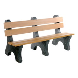 Colonial Recycled Plastic Outdoor Bench (6\' L)