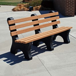 Central Park Recycled Plastic Outdoor Bench (6\' L)