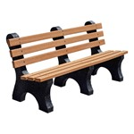 Comfort Park Avenue Recycled Plastic Outdoor Bench