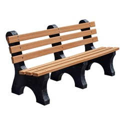 Comfort Park Avenue Recycled Plastic Outdoor Bench (6' L)