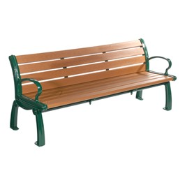 Heritage Recycled Plastic Outdoor Bench (8\' L)