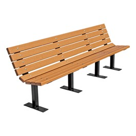 Contour Recycled Plastic Outdoor Bench - Surface Mount (8\' L)