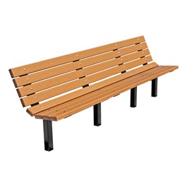 Contour Recycled Plastic Outdoor Bench - Inground Mount (8\' L)