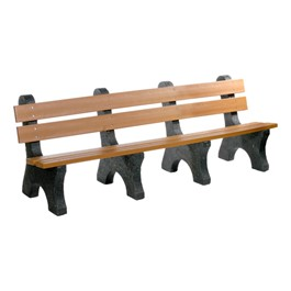 Colonial Recycled Plastic Outdoor Bench (8\' L)
