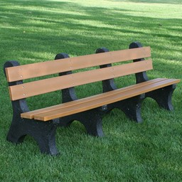 Colonial Recycled Plastic Outdoor Bench (8' L)