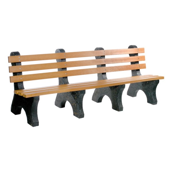 Central Park Recycled Plastic Outdoor Bench (8' L)