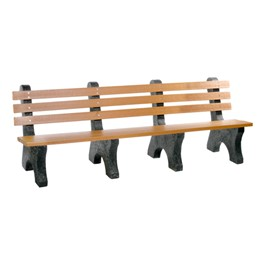 Comfort Park Avenue Recycled Plastic Outdoor Bench (8\' L)