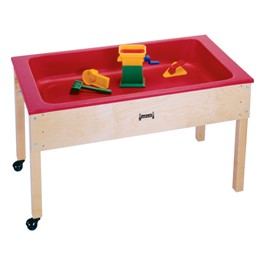 "Sensory Sand & Water Table w/ One Tub & Lid (22"" W x 42\"" L x 24\"" H) - Accessories not included"