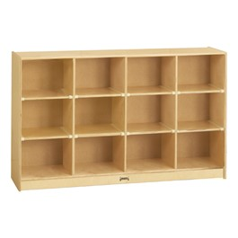 Baltic Birch 12-Cubby Storage Unit w/o Trays - Trays & accessories not included