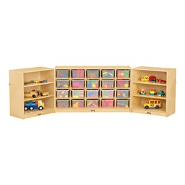 20-Tray Fold & Lock Storage Unit w/ Clear Trays - Supplies not included