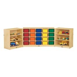 20-Tray Fold & Lock Storage Unit w/ Colorful Trays