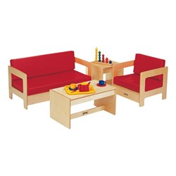 Red Living Room - Whole Set