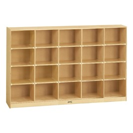 Baltic Birch 20-Cubby Mobile Storage Unit w/o Trays
