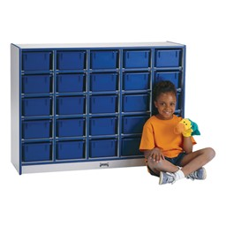 Rainbow Accents Mobile Cubby Unit - 25 Cubbies w/ Trays