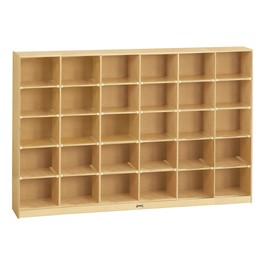 Baltic Birch 30-Cubby Mobile Storage Unit w/o Trays