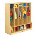Baltic Birch Stand-Alone Five-Section Locker