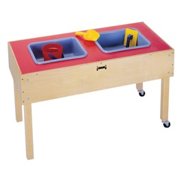 "Sensory Sand & Water Table w/ Two Tubs (20 1/2"" W x 41 1/2\"" L x 24\"" H)"